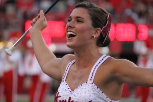 Aleah Peters, Feature Twirler for the Cornhusker Marching Band, 2014