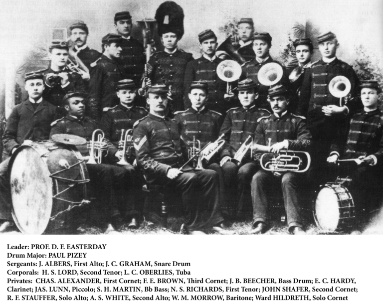 1892 Cadet Band at Nebraska University