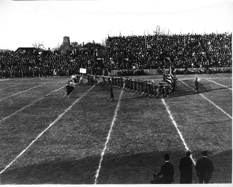 NU Band on the field in 1911.