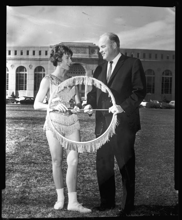 Joyce Burns and Bob Devaney