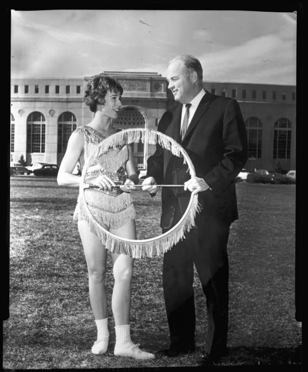 Joyce Burns and Bob Devaney