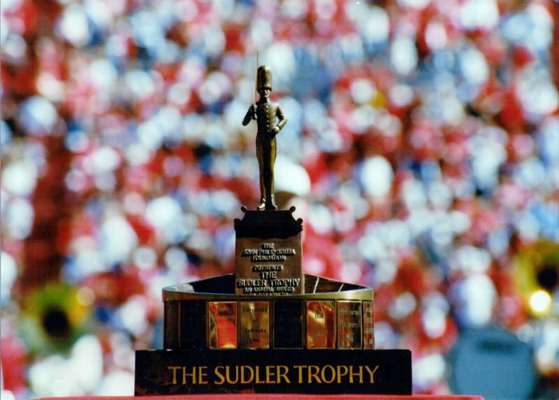 The Sudler Trophy in Memorial Stadium
