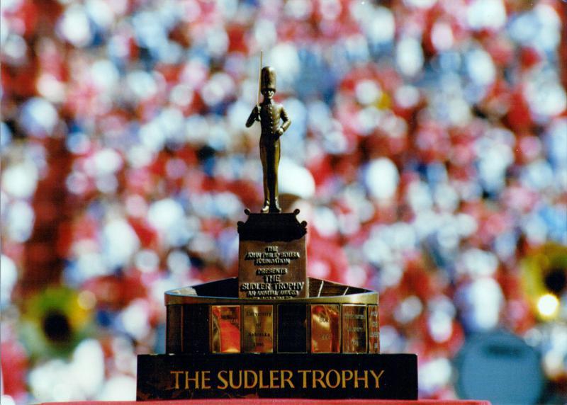 The Sudler Trophy in Memorial Stadium