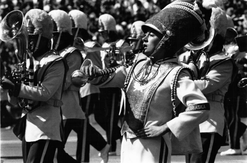Diane Miller Frost, first female drum major (1976)