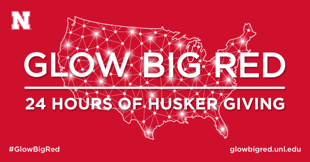 Glow Big Red - 24 hours of Husker giving